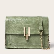 Crocodile Chain Crossbody Bag