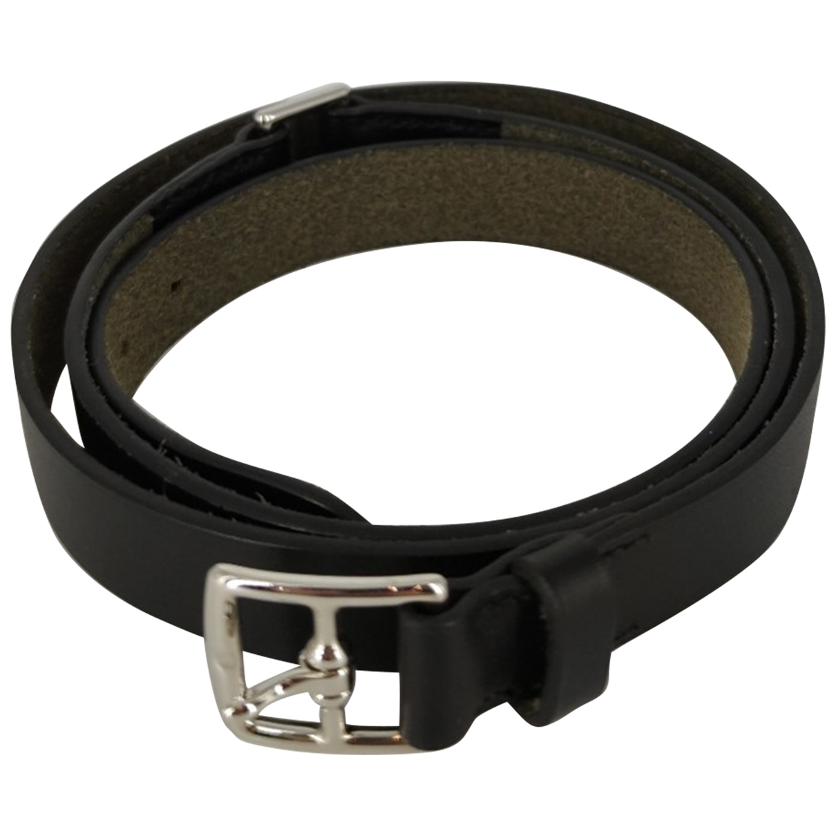 Hermès \N Black Leather belt for Women 90 cm