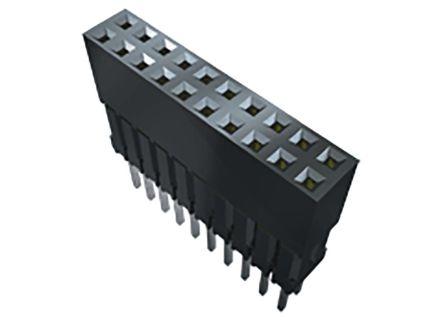 Samtec , ESQ 2.54mm Pitch 12 Way 2 Row Straight PCB Socket, Through Hole, Solder Termination