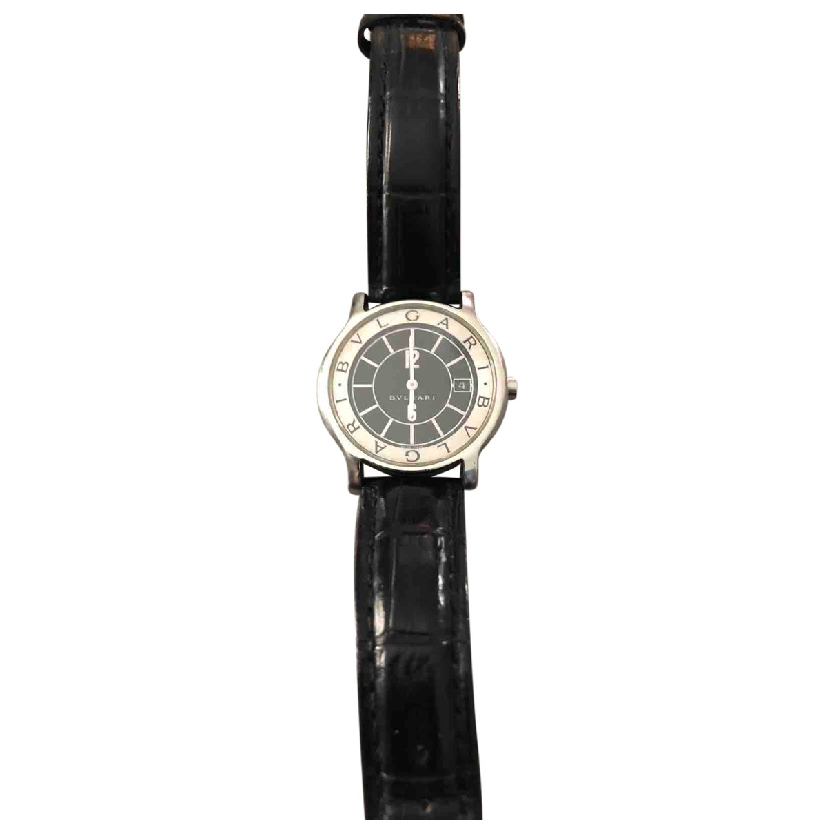 Bvlgari Solotempo Black Steel watch for Women \N