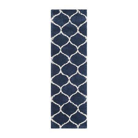 Safavieh Hudson Shag Collection Maria Geometric Runner Rug, One Size , Multiple Colors