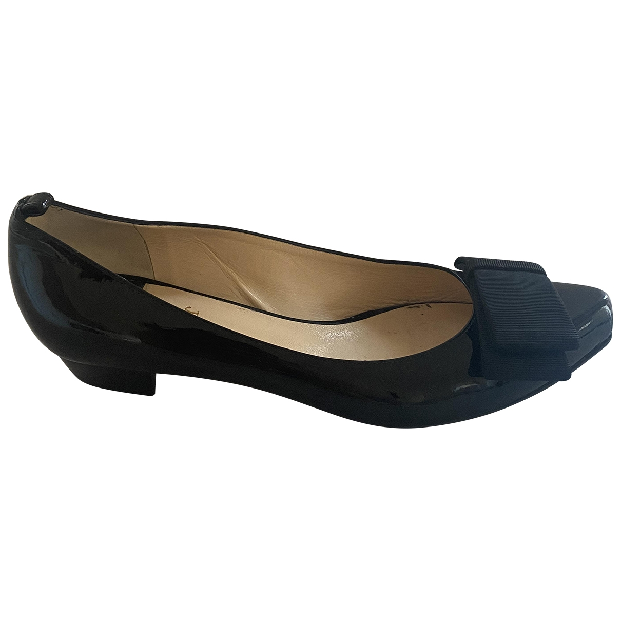 O Jour \N Black Patent leather Ballet flats for Women 37.5 EU