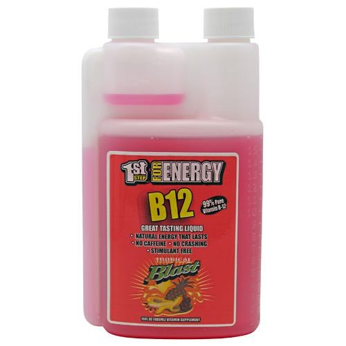 1st Step Liquid B-12 Tropical 16 oz by High Performance Fitness, Inc.
