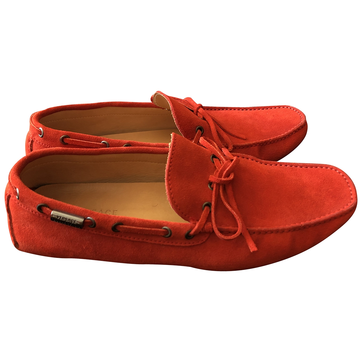 Versace \N Red Suede Flats for Men 44 EU