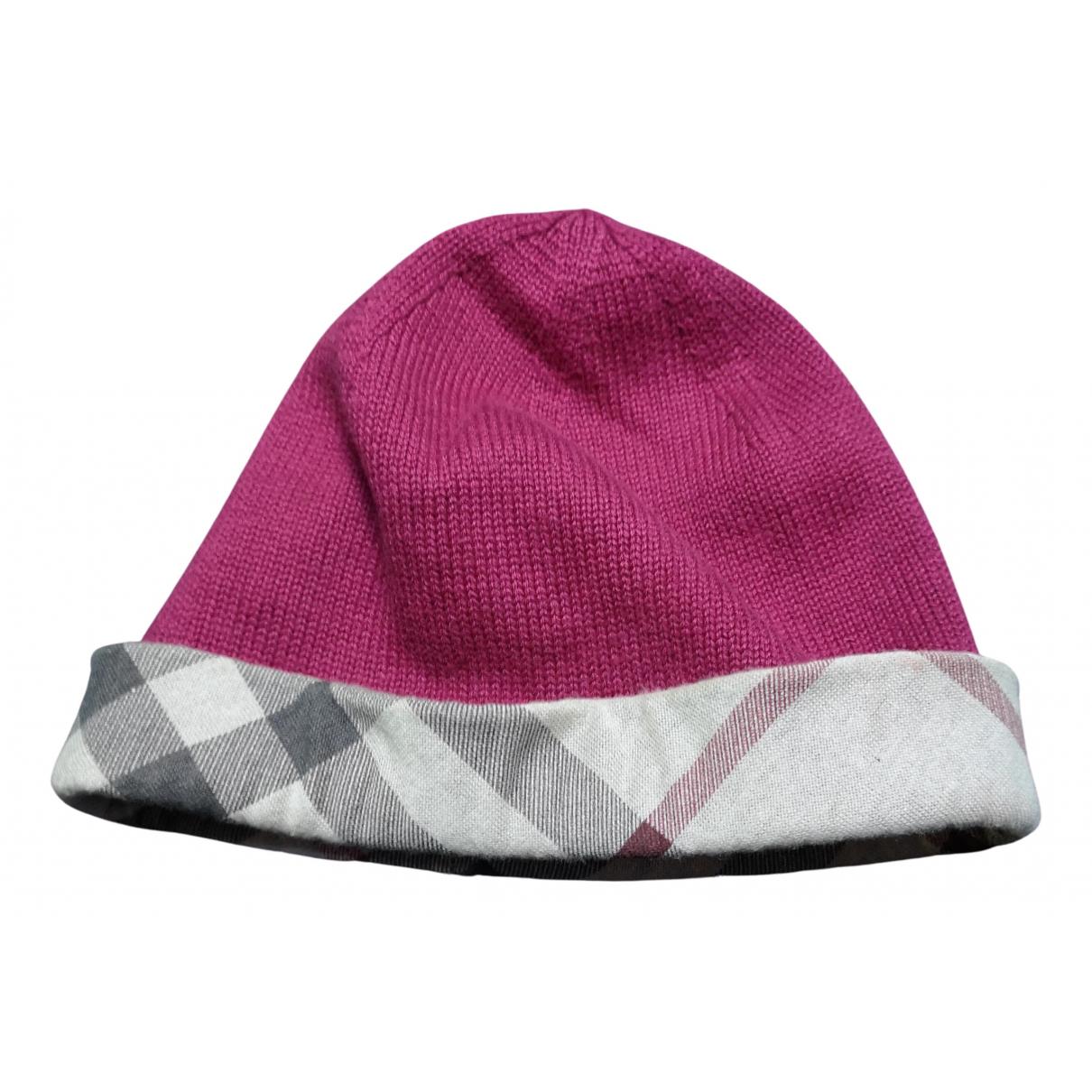 Burberry \N Burgundy Cotton hat & Gloves for Kids \N