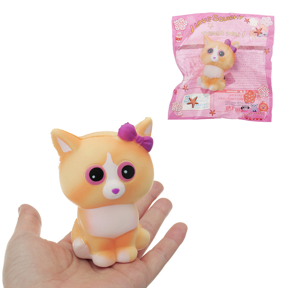 Cute Yellow Cat Squishy Slow Rising Collection Gift Soft Toy With Packaging