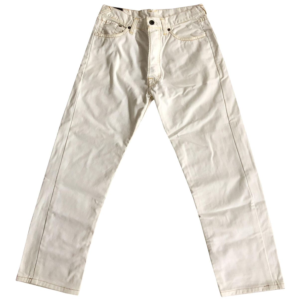 Evisu \N White Cotton Jeans for Men 31 US