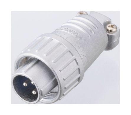 Nanahoshi Kagaku Connector, 3 contacts Cable Mount Plug, Solder