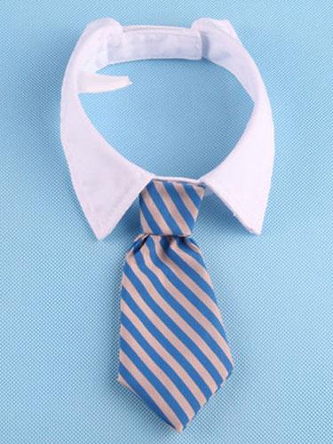 Milanoo Cat Gentleman Tie Royal Blue Striped Costume Halloween
