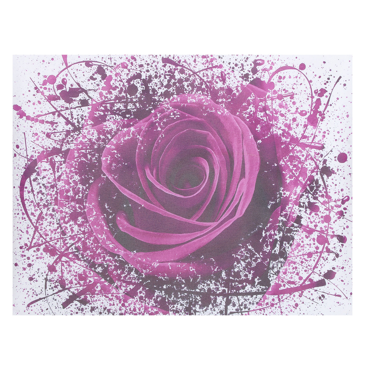 Purple Lime Rose Flower Abstract Modern Pictures Canvas Wall Art Prints Unframed