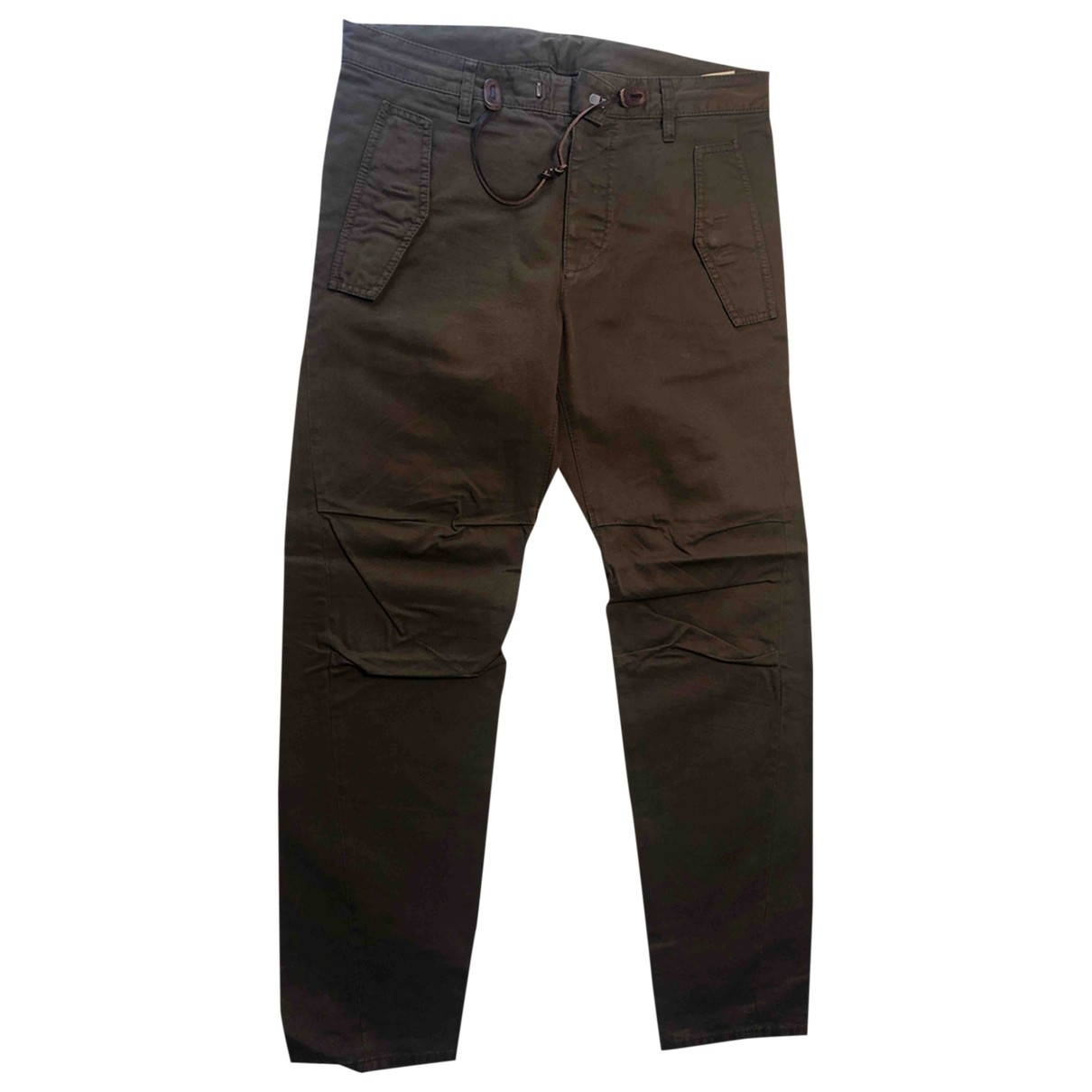 Dsquared2 \N Brown Cotton Trousers for Men 46 IT