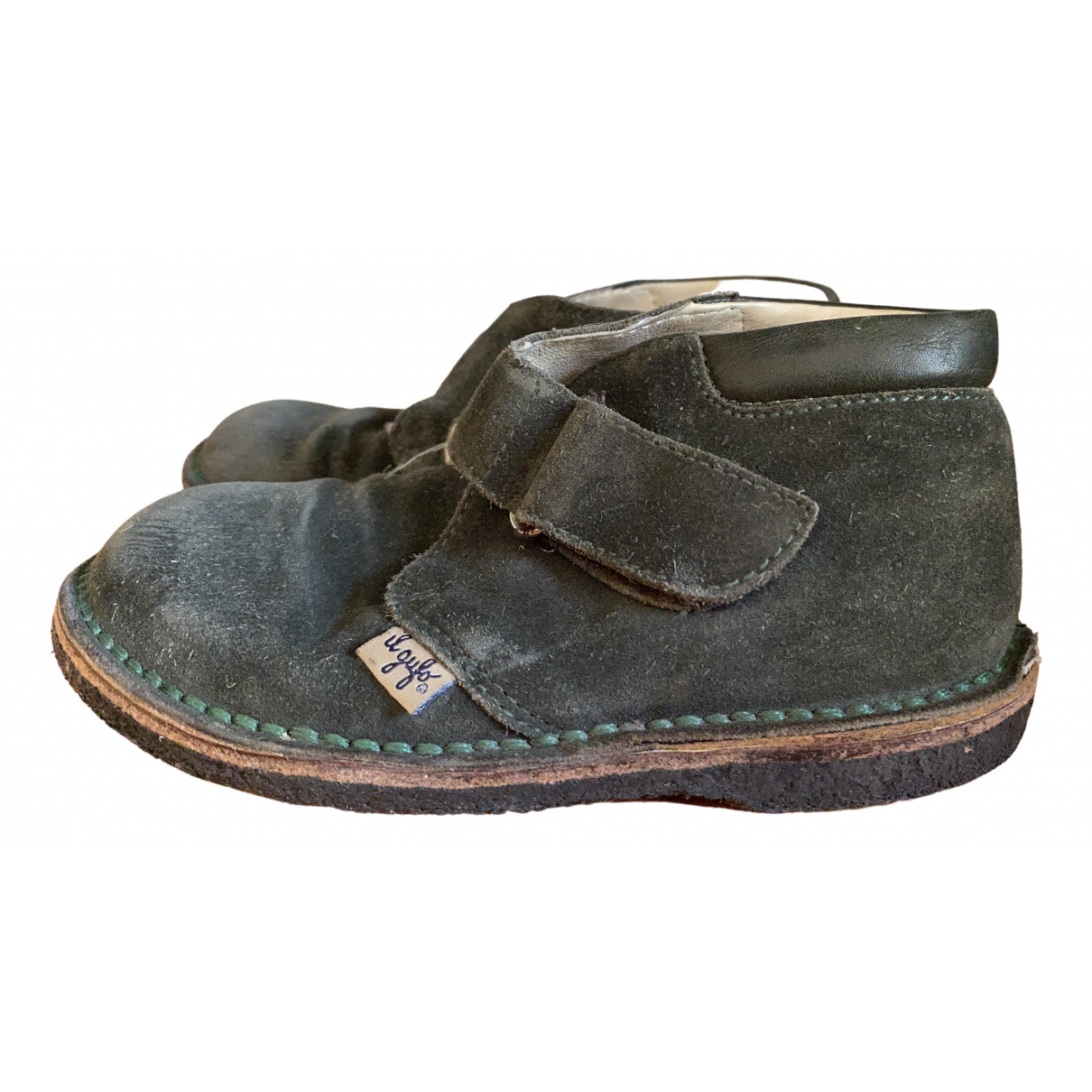 Il Gufo \N Green Suede Boots for Kids 27 FR