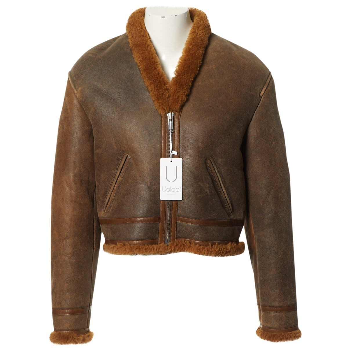 Non Signé / Unsigned \N Brown Shearling jacket for Women 38 FR