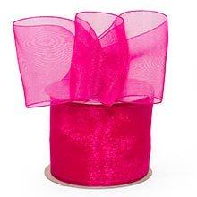 Azalea Shimmer Sheer Organza Ribbon - 1-1/2 X 25yd - by Paper Mart