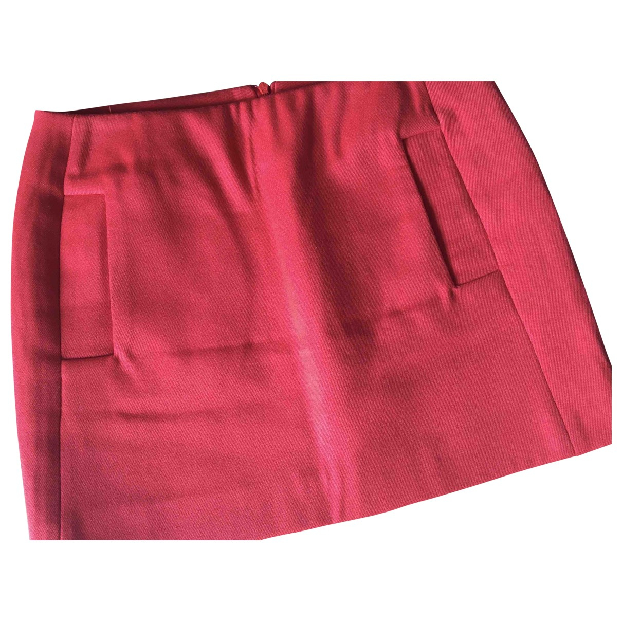 Maje \N Red Wool skirt for Women 38 FR