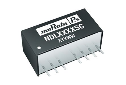 Murata Power Solutions NDL 2W Isolated DC-DC Converter Through Hole, Voltage in 9 → 18 V dc, Voltage out 12V dc