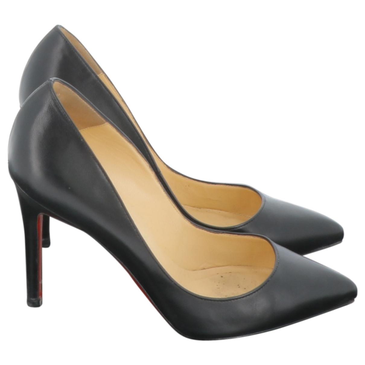 Christian Louboutin \N Black Leather Heels for Women 36 EU