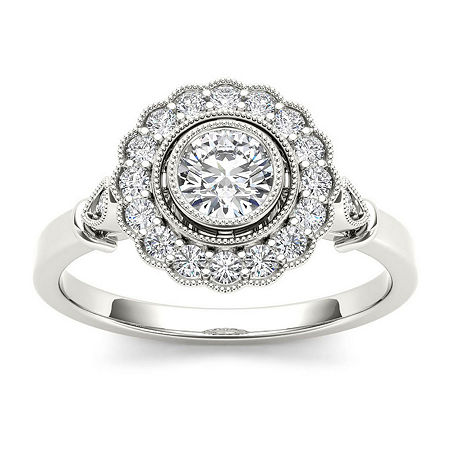 1/2 CT. T.W. Diamond 10K White Gold Engagement Ring, 6 , No Color Family