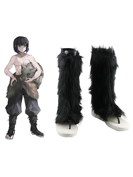 Milanoo Demon Slayer Kimetsu No Yaiba Hashibira Inosuke Boots Anime Cosplay Shoes