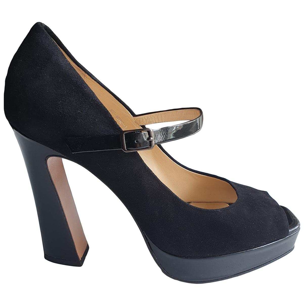Carlo Pazolini \N Black Suede Heels for Women 39 EU