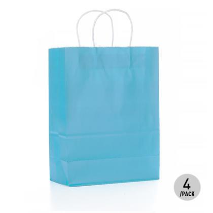 Bleu Papier Kraft Sac - Grand 4Pcs LivingBasics™
