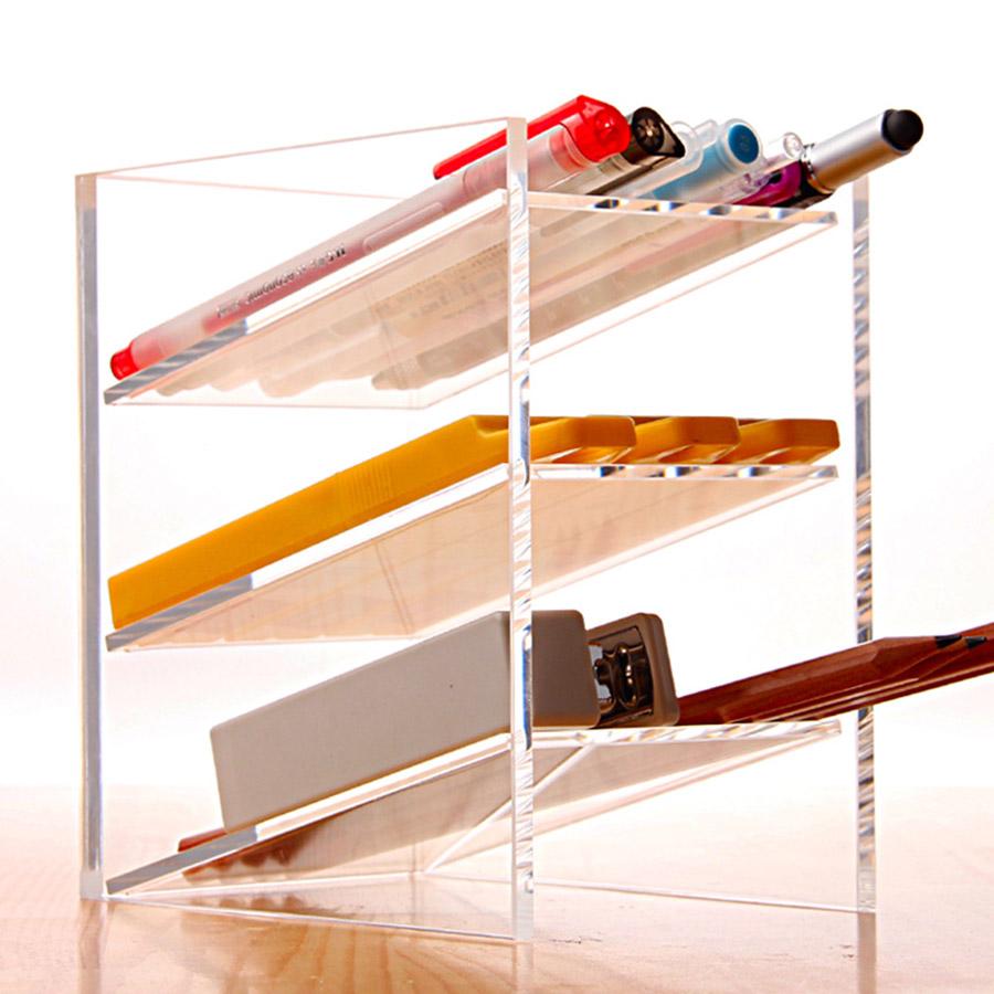 Office Stationery Acrylic Simple Style High Capacity Storage Box
