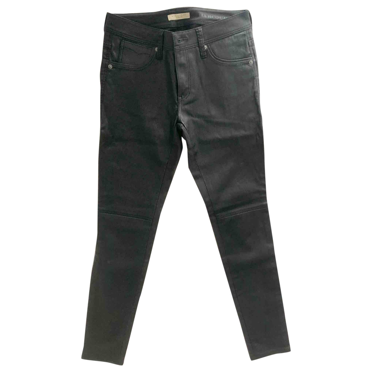 Burberry \N Black Cotton Jeans for Women 26 US