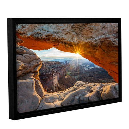 Brushstone Mesa Arch Sunburst 2 Gallery Wrapped Floater-Framed Canvas Wall Art, One Size , Brown