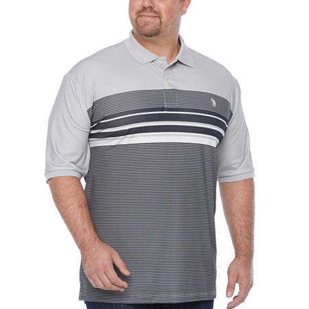 Us Polo Assn. Mens Short Sleeve Polo Shirt, 3x-large Tall , Gray