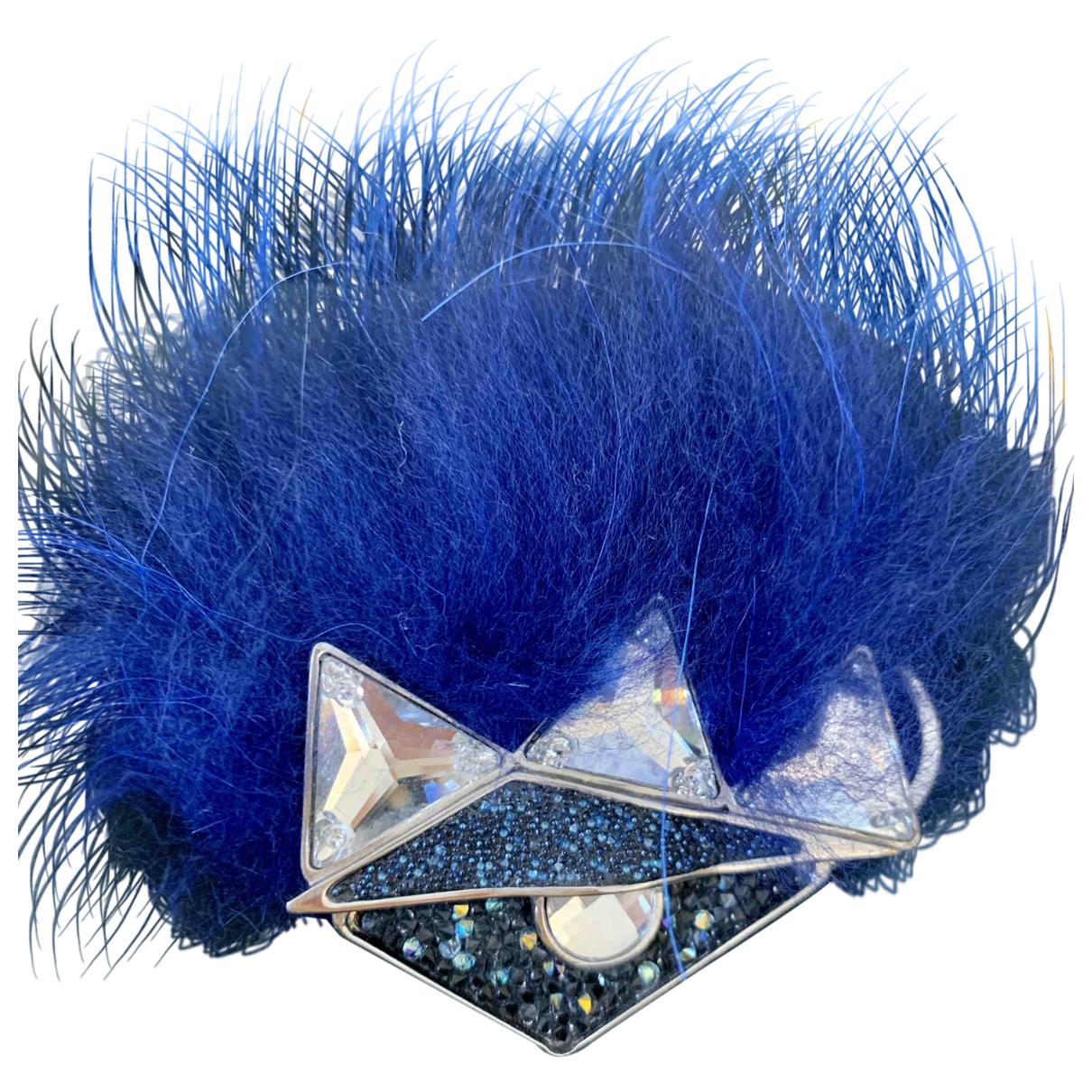 Fendi \N Blue Fox Earrings for Women \N