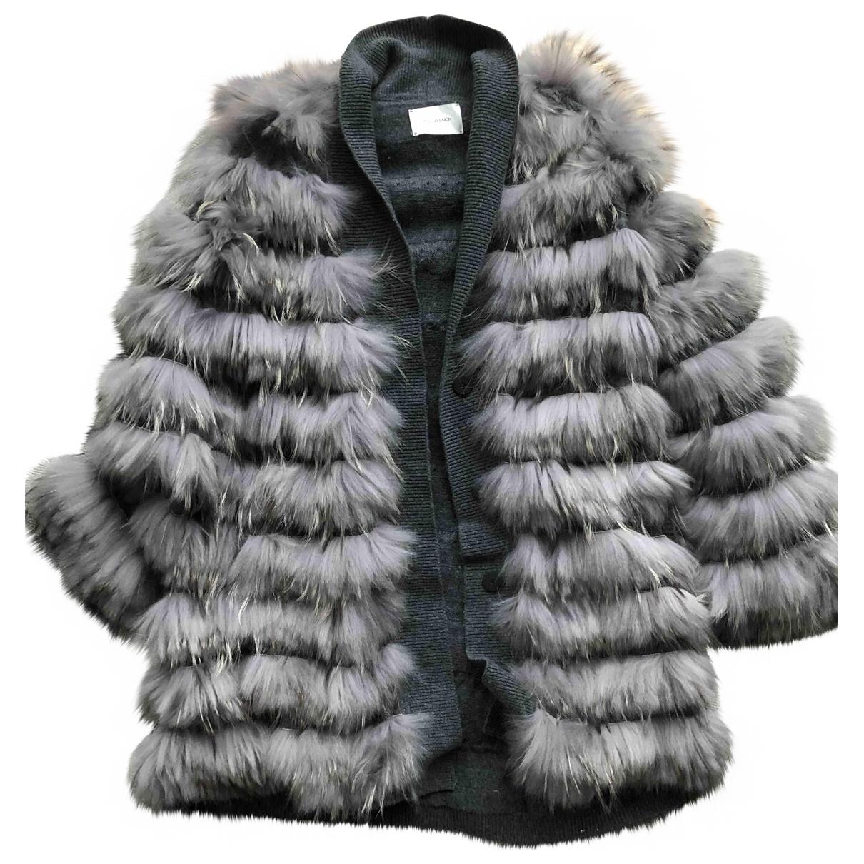 Yves Salomon \N Grey Fur coat for Women 38 FR