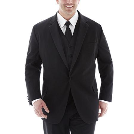 JF J. Ferrar Tuxedo Jacket-Big & Tall, 60 Big Regular, Black