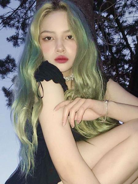Milanoo Mint Green Lolita Wigs Long Heat Resistant Fiber Lolita Hair Wigs