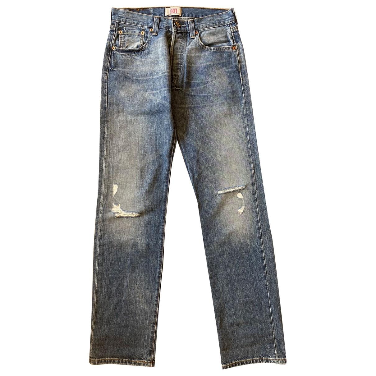 Levi's 501 Blue Cotton Jeans for Women 29 US