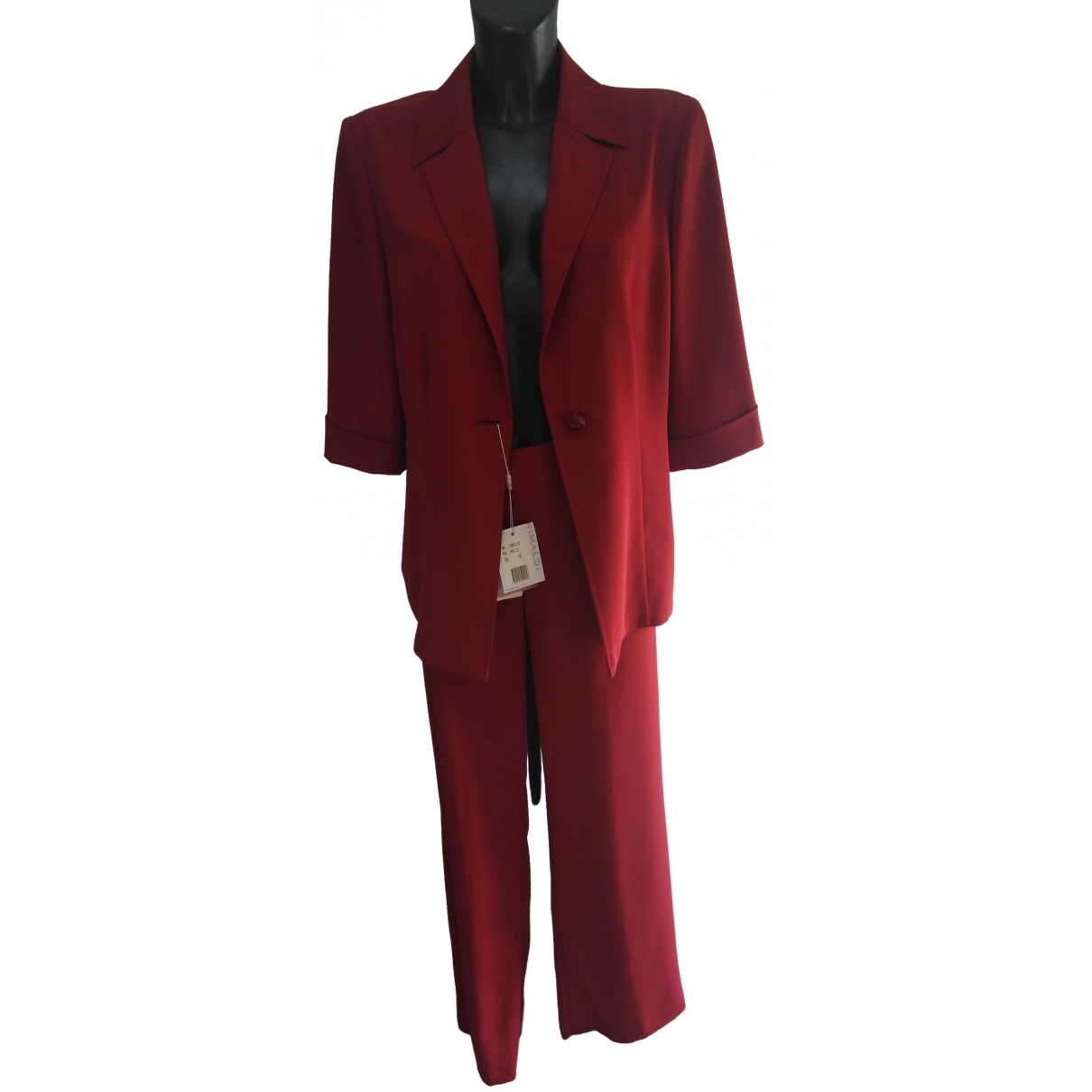 Non Signé / Unsigned \N Burgundy dress for Women 48 IT