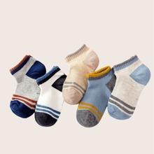 5pairs Toddler Boys Striped Pattern Socks