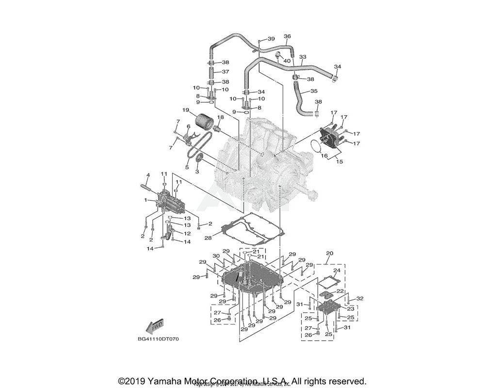 Yamaha OEM 5GJ-13475-00-00 GASKET