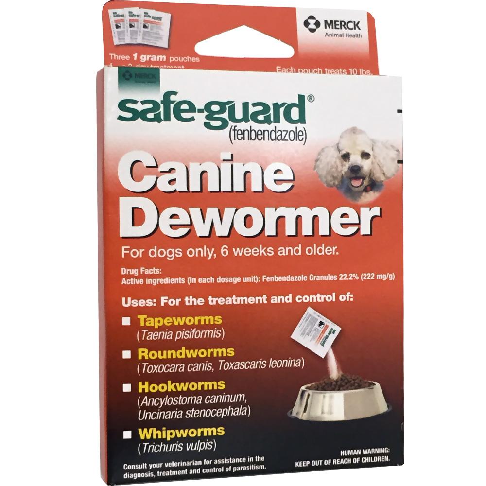 Merck Safeguard (fenbendazole) Canine Dewormer 3-pack (1 gm)