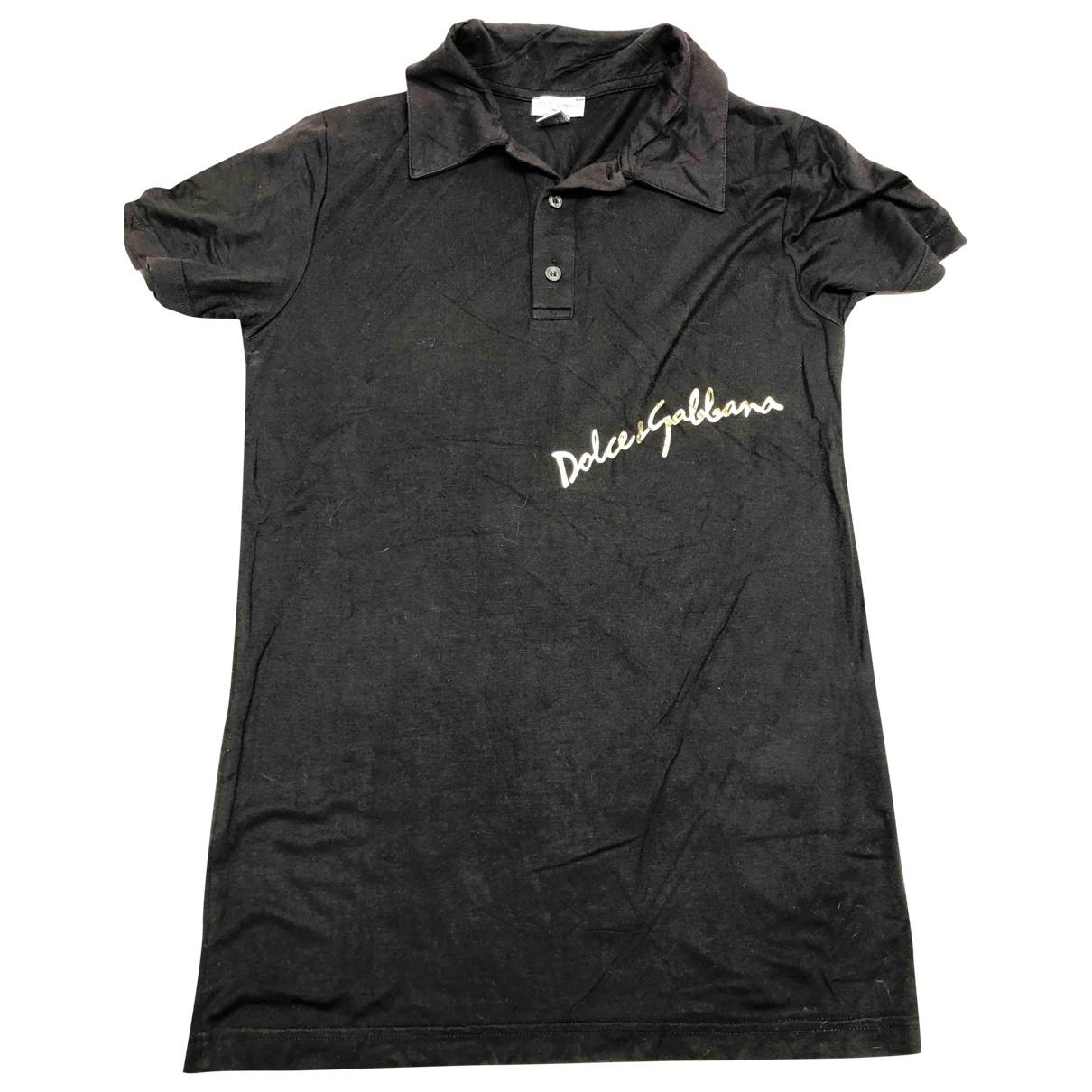 Dolce & Gabbana \N Black Cotton T-shirts for Men S International