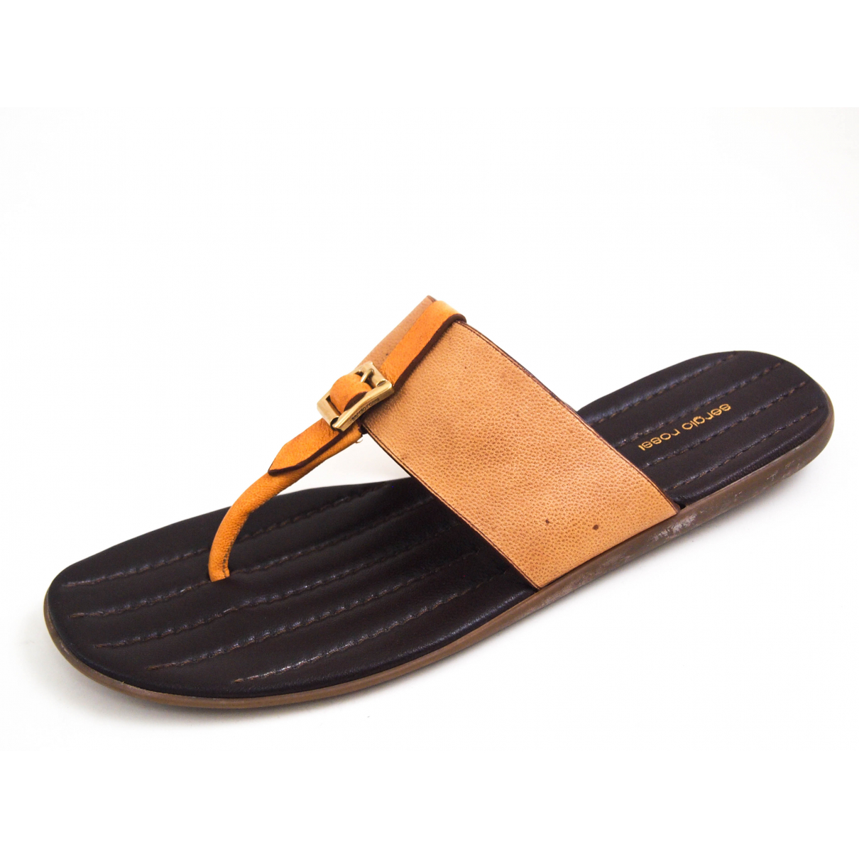 Sergio Rossi \N Beige Leather Sandals for Men 45 EU