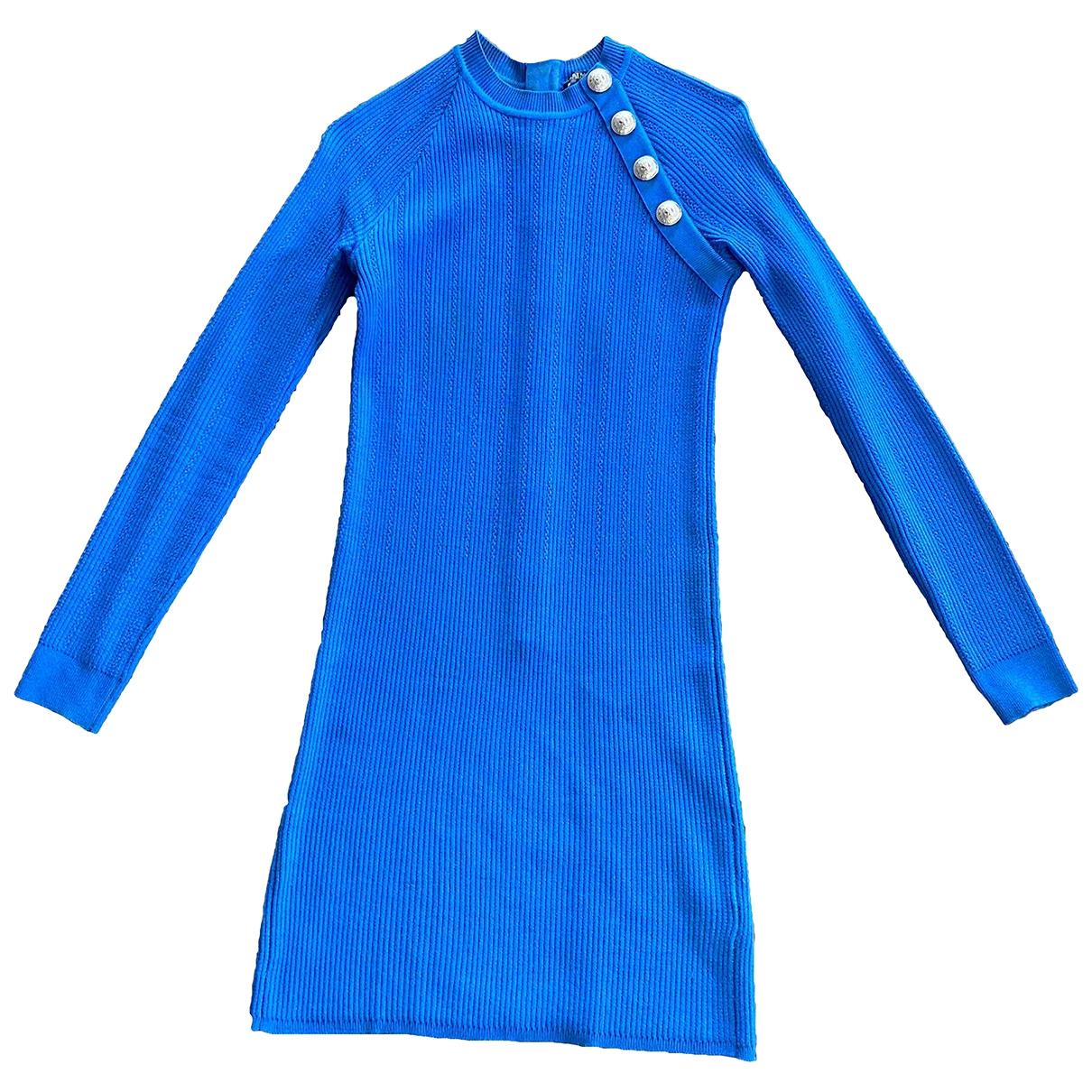 Balmain \N Blue dress for Women 38 FR