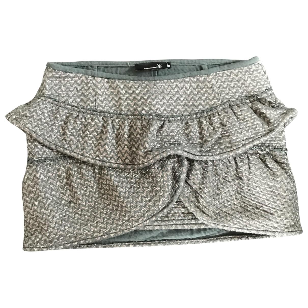 Isabel Marant \N Grey Cotton skirt for Women 40 FR
