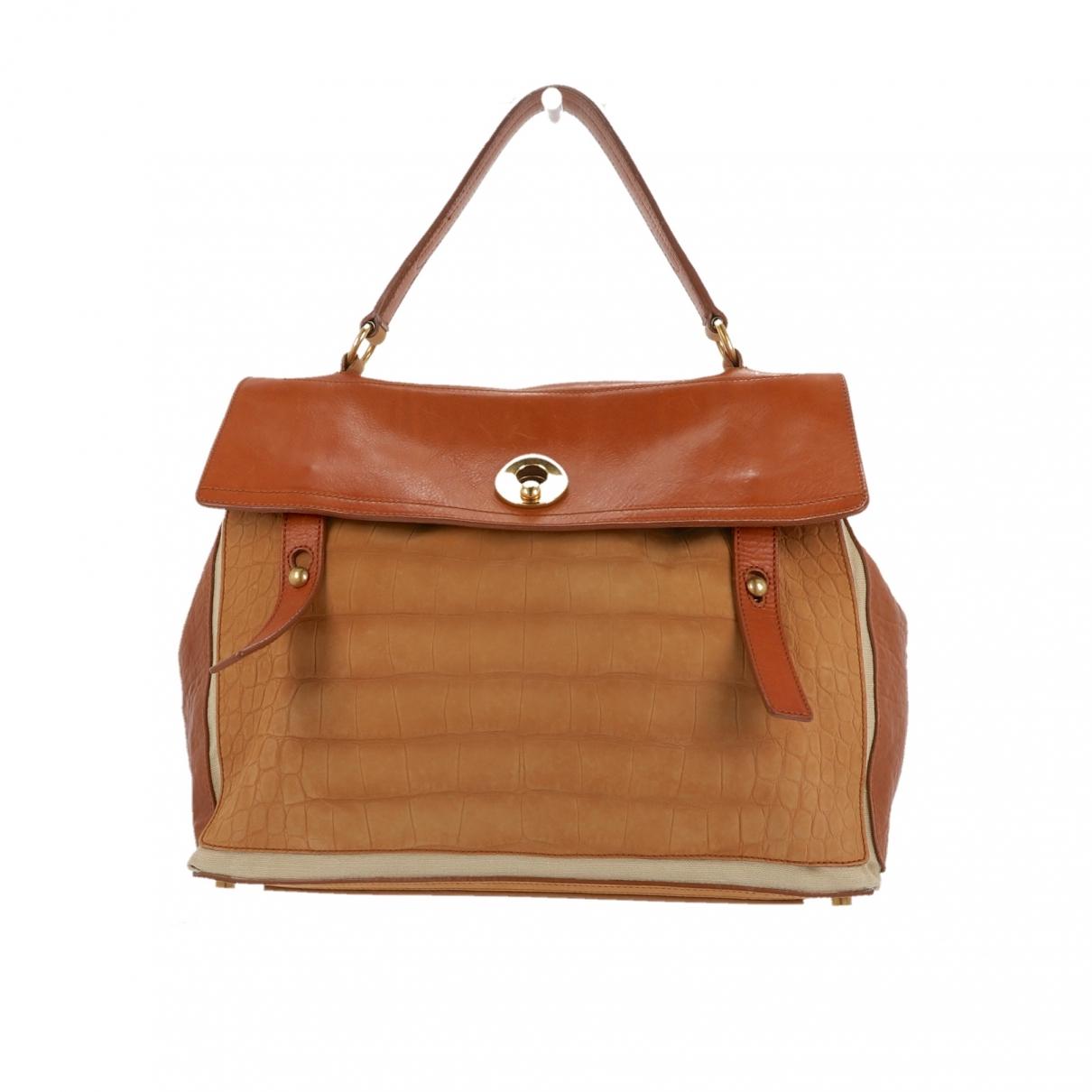 Yves Saint Laurent Muse Two Beige Leather handbag for Women \N