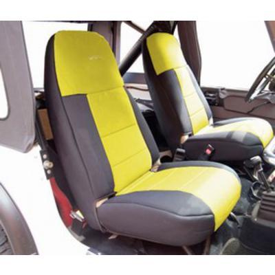 Coverking Neoprene Front Seat Covers (Black/Yellow) - SPC178
