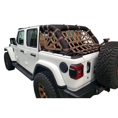 DirtyDog 4x4 3-Piece Cargo Netting Kit with Spider Sides (Sand) - JL4N18RSSD