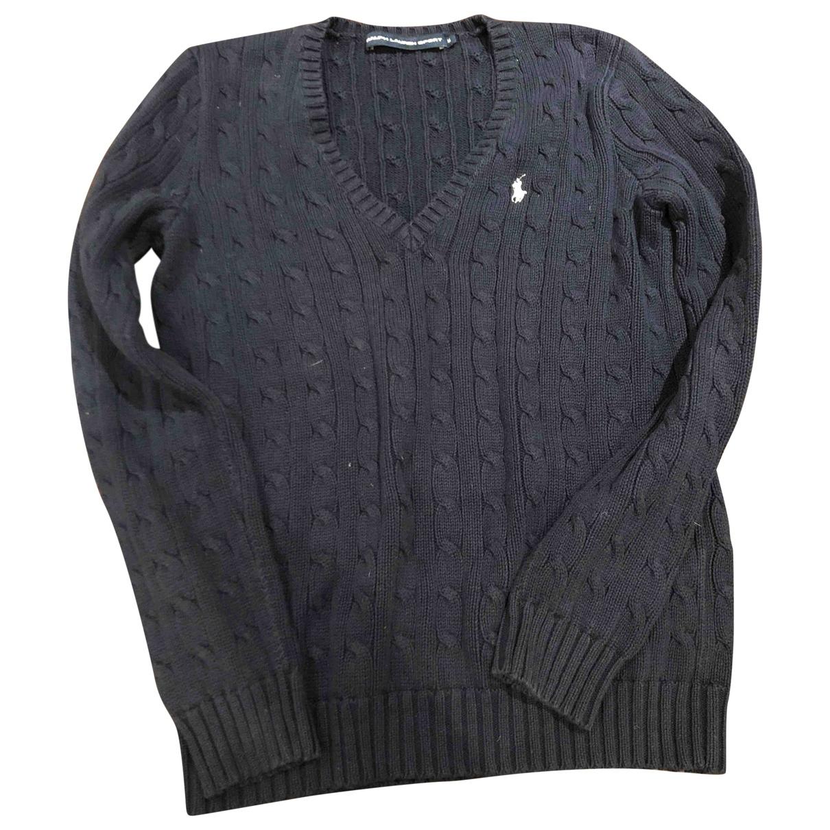 Polo Ralph Lauren \N Blue Cotton Knitwear for Women 40 IT