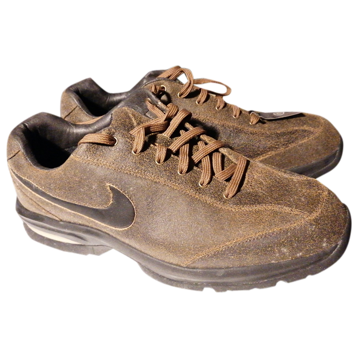 Nike \N Brown Leather Trainers for Men 42 EU