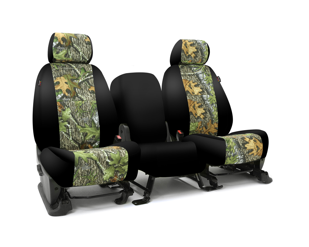 Coverking CSC2MO04GM9534 Skanda Custom Seat Covers 1 Row Neosupreme Mossy Oak Obsession with Black Sides Front GMC Sierra 1500 | 2500 2014-2018
