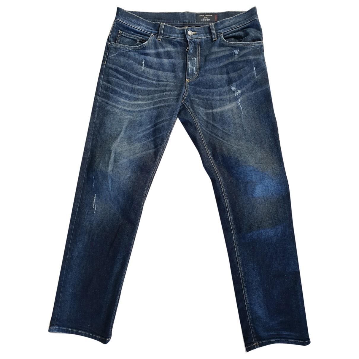 Dolce & Gabbana \N Blue Cotton Jeans for Men 34 US