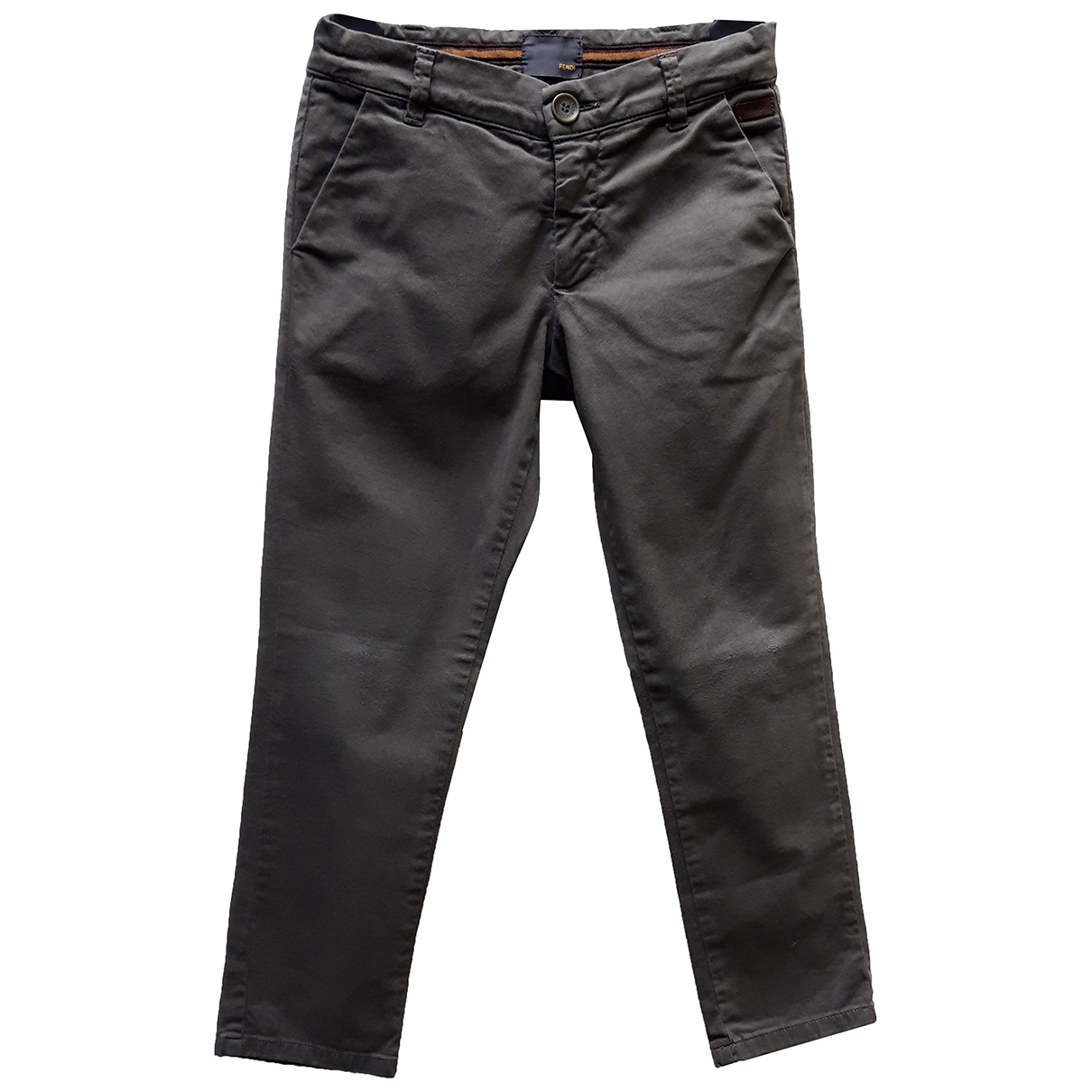 Fendi \N Grey Cotton Trousers for Kids 6 years - up to 114cm FR